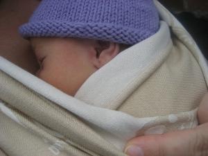 Newborn in a Woven Wrap
